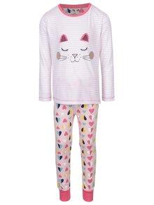 Ružové dievčenské pyžamo s motívom mačky 5.10.15.