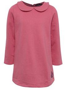 Ružové dievčenské šaty s golierom Blue Seven