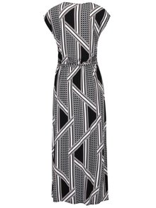 Krémovo-černé vzorované maxišaty Dorothy Perkins