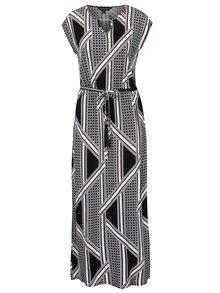 Rochie maxi negru & crem cu imprimeu geometric -  Dorothy Perkins