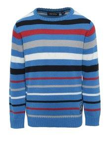 Modrý chlapčenský pruhovaný sveter Blue Seven