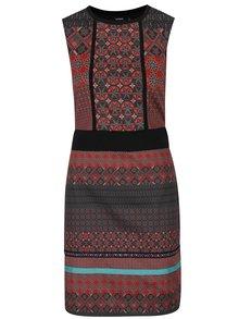 Rochie midi multicoloră cu motive etno  Desigual Birmania