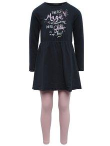 Tmavomodrá dievčenská súprava šiat s legínami Blue Seven