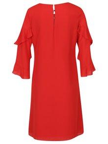 Červené voľné šaty s volánmi na rukávoch Dorothy Perkins Tall