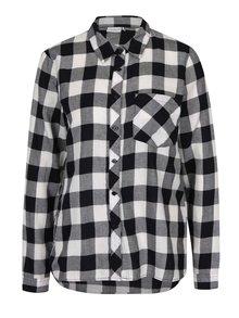 Krémovo-čierna kockovaná košeľa Jacqueline de Yong Lola