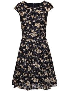 Hnědo-modré květované šaty Mela London