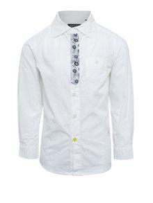Biela chlapčenská košeľa s kravatou Blue Seven