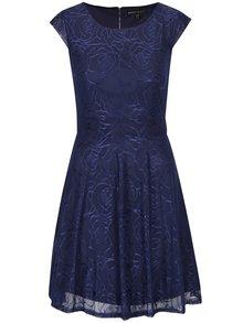 Tmavě modré krajkové minišaty Mela London