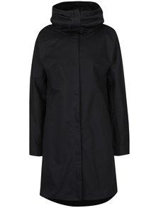 Palton negru subțire cu glugă Soolista