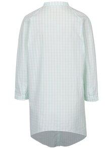 Rochie cămașă alb&verde deschis cu mâneci lungi Soolista