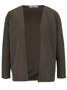 Khaki žebrované sako s 3/4 rukávy Haily´s Penna