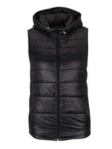 Čierna prešívaná vesta s kapucňou Haily´s Dora