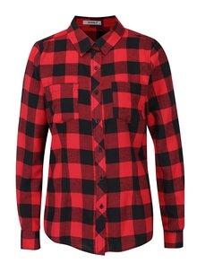 Čierno-červená kockovaná košeľa Haily´s Biljana