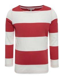 Krémovo-červené detské pruhované tričko Tom Joule Harbour