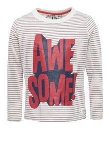 Krémové detské pruhované tričko s potlačou Tom Joule Finlay