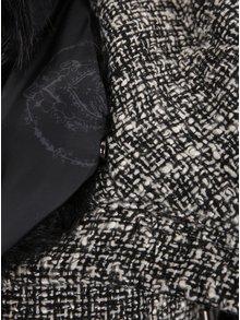 Jacheta gri cu negru cu guler inalt Desigual Nigth