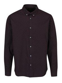 Tmavě fialová pánská košile s jemným vzorem Broadway Nakia