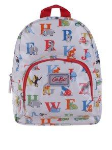 Krémový detský batoh s farebnou potlačou písmen Cath Kidston