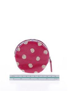 Tmavě růžová dámská kulatá peněženka na mince Cath Kidston