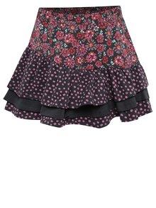 Šedo-růžová holčičí vzorovaná sukně s volány BÓBOLI