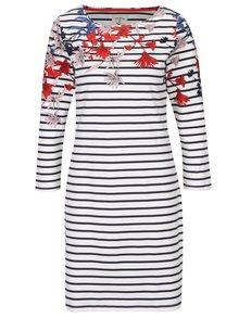 Modro-biele pruhované kvetované šaty Tom Joule