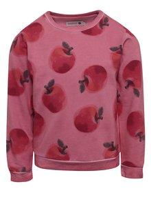 Růžová holčičí mikina s motivem jablek BÓBOLI