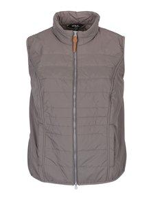 Sivá prešívaná vesta s vreckami Ulla Popken
