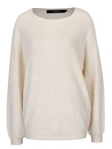 Krémový sveter s bodkami VERO MODA Baldwin