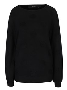 Čierny sveter s bodkami VERO MODA Baldwin
