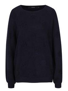Tmavě modrý svetr s puntíky VERO MODA Baldwin