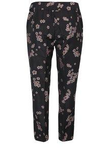 Černé květované kalhoty Ulla Popken