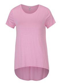 Růžové tričko s prodlouženým zadním dílem ONLY Louise