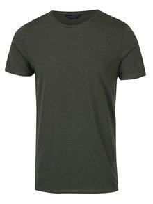 Tricou kaki cu imprimeu discret - Jack & Jones Premium Linear
