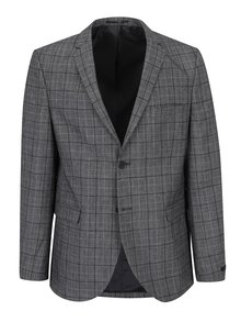 Šedé oblekové slim vlněné sako Jack & Jones Premium Ranton