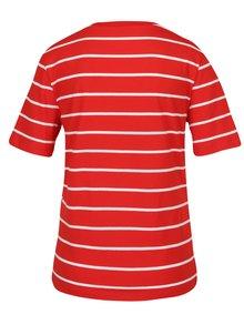 Bielo-červené pruhované tričko ONLY Great
