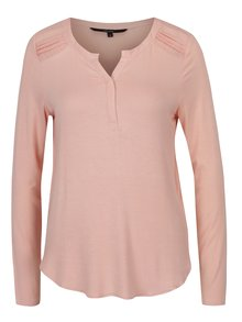 Bluză roz deschis cu mâneci lungi VERO MODA Ulla