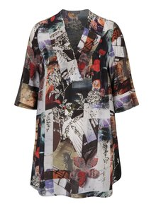Bluză multicoloră cu mâneci 3/4 și imprimeu - Ulla Popken
