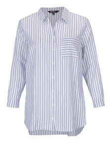 Krémovo-modrá pruhovaná košeľa s náprsným vreckom Ulla Popken