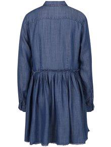 Tmavomodré rifľové košeľové šaty ONLY Tess