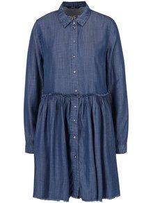 Tmavě modré džínové košilové šaty ONLY Tess
