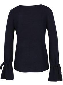 Tmavomodrý sveter so zvonovými rukávmi VERO MODA Montauge
