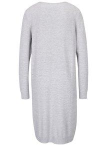 Sivé melírované svetrové šaty VILA Ril