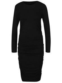 Černé šaty s řasením na bocích ONLY Olivia