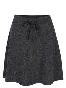 Tmavosivá melírovaná sukňa VILA Ammie