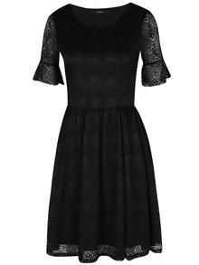 Čierne čipkované šaty VERO MODA Majse
