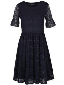 Tmavomodré čipkované šaty VERO MODA Majse