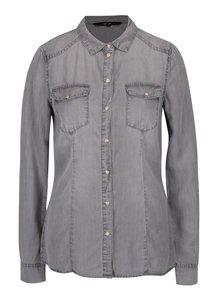 Sivá rifľová košeľa VERO MODA Vera