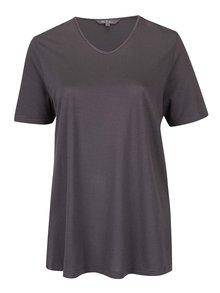 Tmavě šedé pruhované regular tričko Ulla Popken