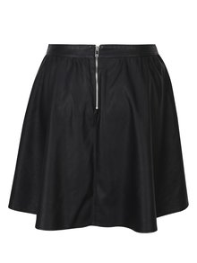 Černá koženková sukně ONLY Phoebe