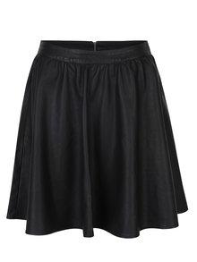 Čierna koženková sukňa ONLY Phoebe